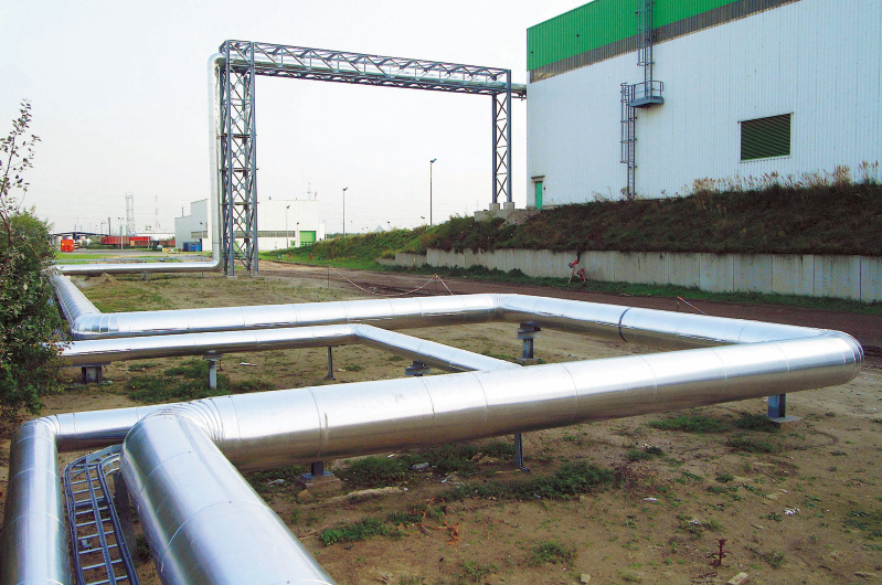 steam pipes, heat recovery, indaver